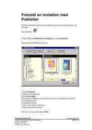 Fremstil en invitation med Publisher - Horsens HF og VUC