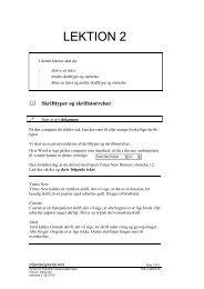 Skrifttyper og skriftstørrelser - Horsens HF og VUC