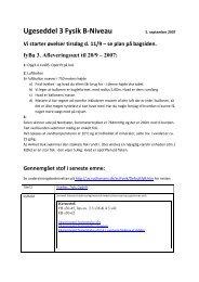 Ugeseddel 3 Fysik B-Niveau - Horsens HF og VUC