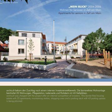 """""""MEIN BLICK"""" 2004-2006 Wohnen für Senioren in Zell am ... - archicult"""