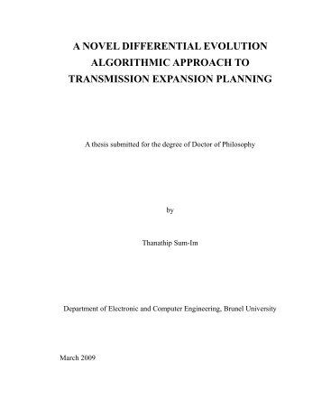 a novel differential evolution algorithmic ... - Brunel University