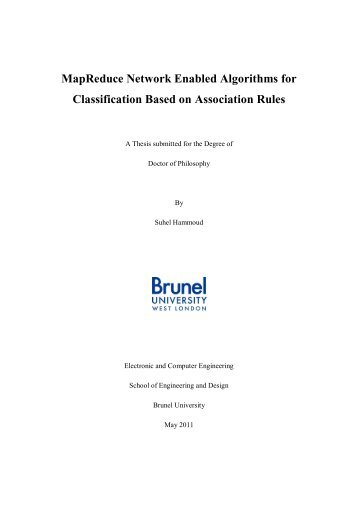 MapReduce Network Enabled Algorithms for ... - Brunel University