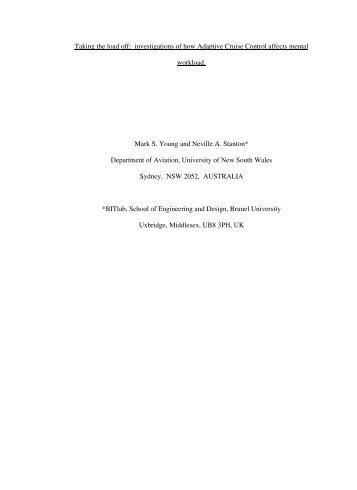 2004 Young Stanton Ergonomics (preprint).pdf - Brunel University
