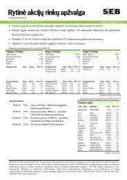 Rytinė akcijų rinkų apžvalga, 09 15 - Verslo naujienos