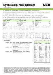 Rytinė akcijų rinkų apžvalga, 04 29