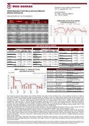 Prekybos Baltijos šalių akcijų rinkose gegužės 18 d. apžvalga