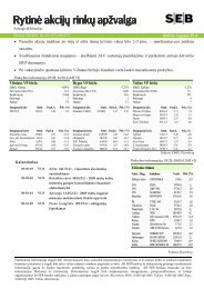 Rytinė akcijų rinkų apžvalga, 09 29 - Verslo naujienos