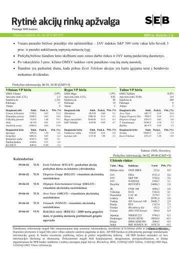 Rytinė akcijų rinkų apžvalga, 06 02