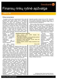 Sausio 8 d. finansų rinkų rytinė apžvalga - Verslo naujienos