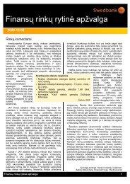 Gruodžio 8 d. finansų rinkų rytinė apžvalga (lietuvių k.)