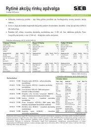 Rytinė akcijų rinkų apžvalga, 04 23