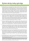 Rytinė akcijų rinkų apžvalga - Page 2