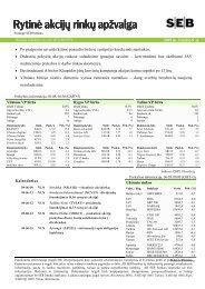 Rytinė akcijų rinkų apžvalga, 06 09