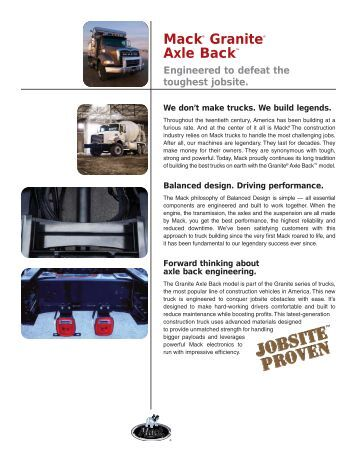 Mack® Granite® Axle Back™ - Mack Trucks!