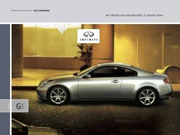 2003 Infiniti G35 Sport Coupe e-Brochure