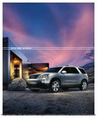 2010 GMC ACADIA - Sign Out