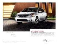 2010 Nissan Sentra Brochure