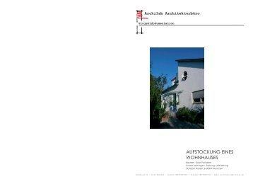 AUFSTOCKUNG EINES WOHNHAUSES - Archilab Architekturbüro