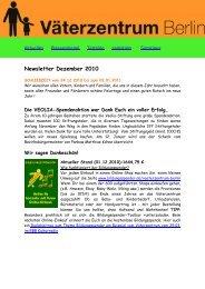 Newsletter Dezember 2010 - Väterzentrum Berlin