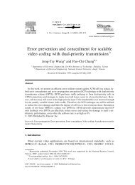 Error prevention and concealment for scalable video coding with ...