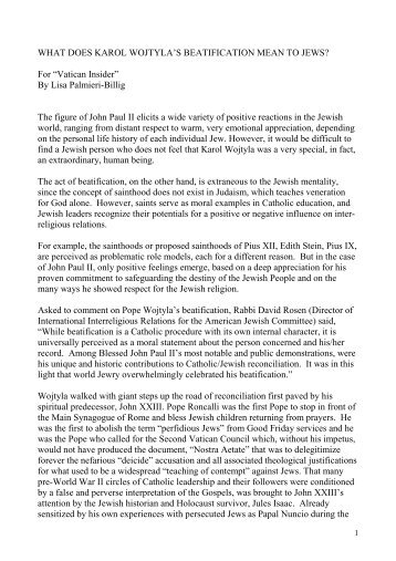 KAROL WOJTYLA_EBREI - Vatican Insider