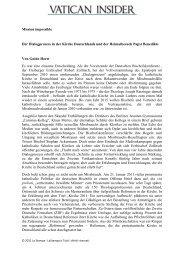 Mission impossible Der Dialogprozess in der Kirche Deutschlands ...