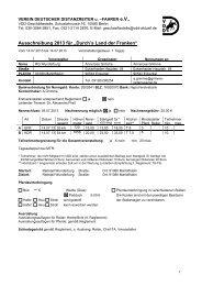 Ausschreibung - Verein Deutscher Distanzreiter