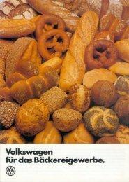 Volkswagen für das Bäckereigewerbe. - veeDUB