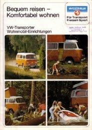 VW-Transporter · Wohnmobil-Einrichtungen - veeDUB