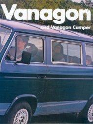 Vanagon Camper - veeDUB