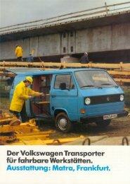 Der Volkswagen Transporter für fahrbare WerkstäHen ... - veeDUB