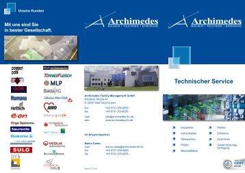 Technischer Service - Archimedes Facility-Management Gmbh