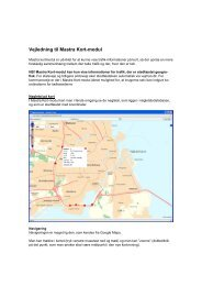 Vejledning til Mastra Kort-modul - kMastra