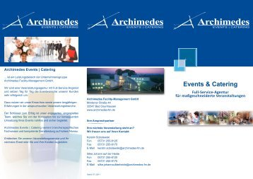 Events & Catering - Archimedes Facility-Management Gmbh