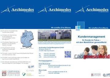 Kundenmanagement - Archimedes Facility-Management Gmbh