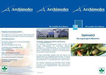 Optima(h)l - Archimedes Facility-Management Gmbh