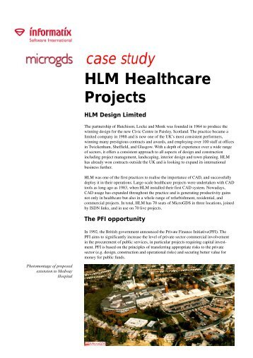 case study HLM Healthcare Projects