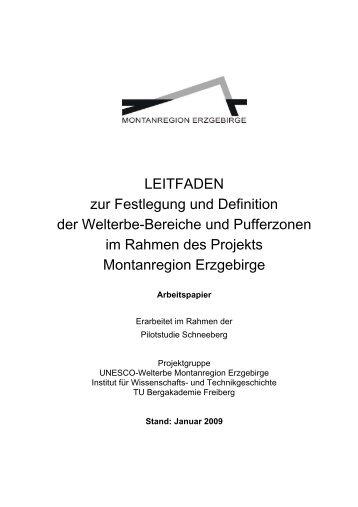 Leitfaden - Montanregion Erzgebirge