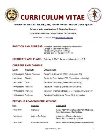 curriculum-vitae-college-of-veterinary-medicine-texas-am- Veterinary Curriculum Vitae on