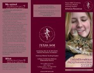 (MRSA) - College of Veterinary Medicine - Texas A&M University