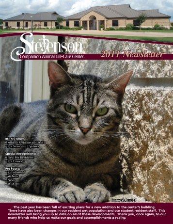 Stevenson Companion Animal Center Newsletter 2011 - College of ...