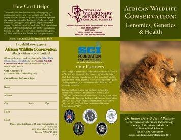 African Wildlife Conservation - College of Veterinary Medicine ...