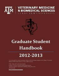 Graduate Student Handbook 2012-2013 - College of Veterinary ...