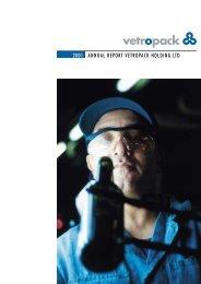 ANNUAL REPORT VETROPACK HOLDING LTD 2001