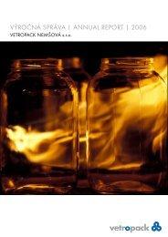 výročná správa annual report 2006