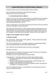 Protokoll VEZ Treffen am 6