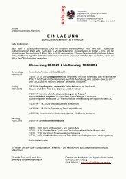 EINLADUNG - Bundeskammer der Architekten und ...
