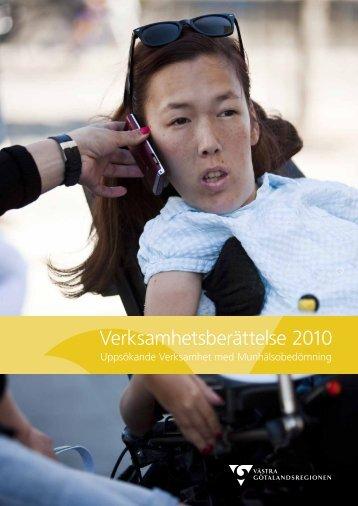Verksamhetsberättelse 2010 - Västra Götalandsregionen