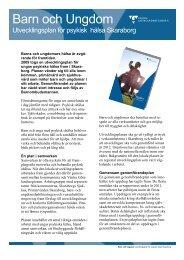 Barn och Ungdom Utvecklingsplan för psykisk hälsa Skaraborg