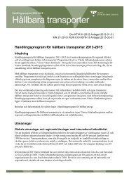 Handlingsprogram för hållbara transporter - Västra Götalandsregionen